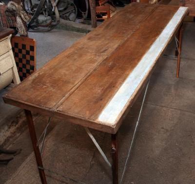 Vintage Folding Wallpaper Table